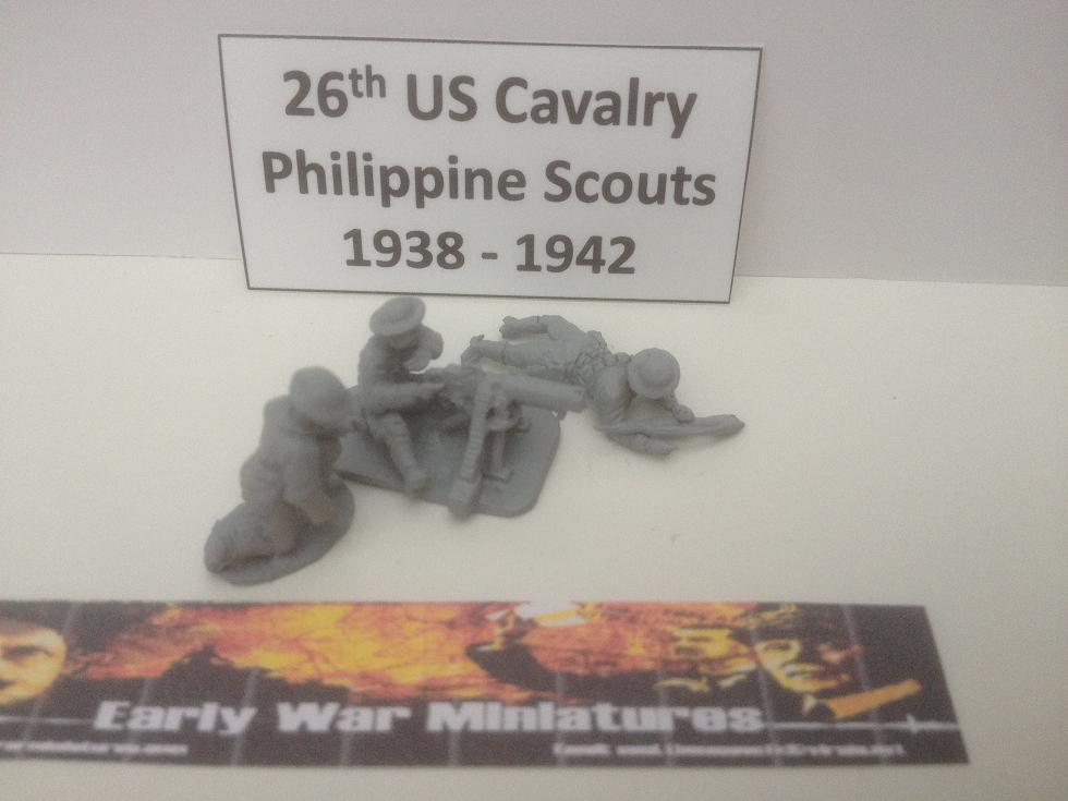 EWM - USA 3x 26th US Cavalry Philippine Scouts firing water cooled MMG - WWII (20mm)