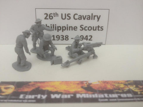 EWM - USA 4 x 26th US cavalry Philipean scouts operating 37mm M1916 gun WWII - 20mm