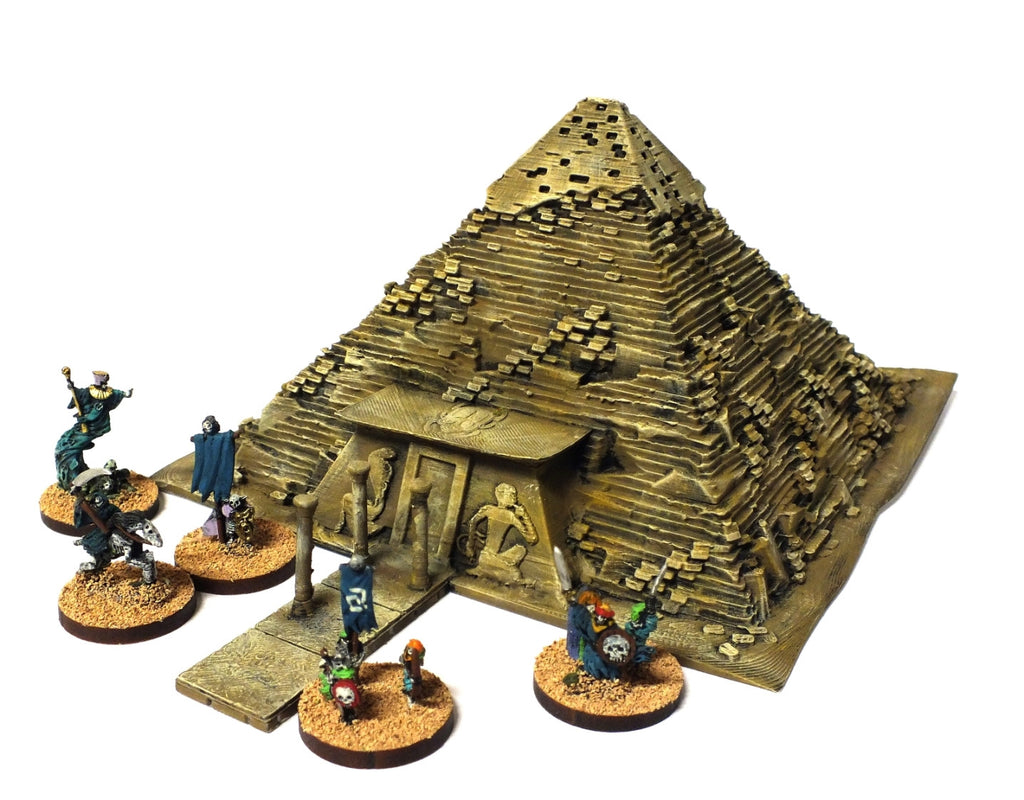 Undead Pyramid for Warmaster rules (painted) - 10mm