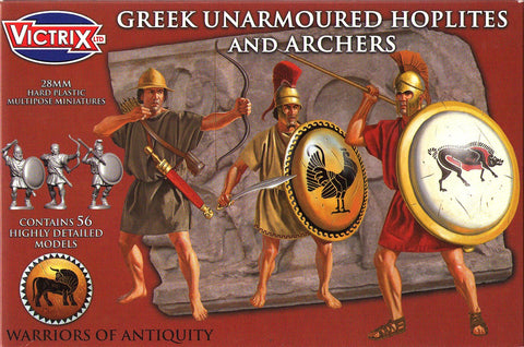 Victrix - Greek unarmoured hoplites and archers - 28mm