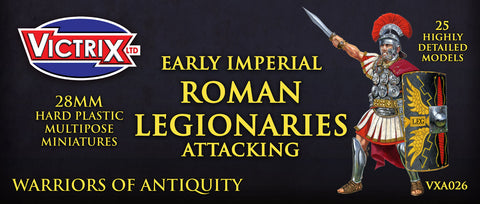 Victrix - Early Imperial Roman Legionaries attacking - 28mm