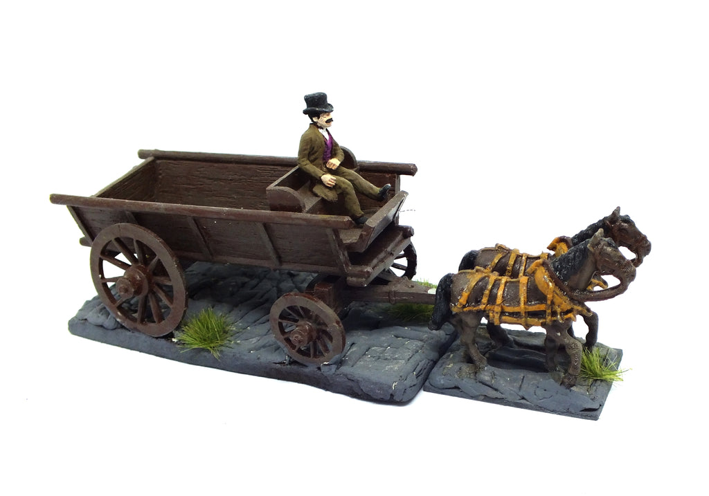 Victorian wagon in metal (painted) - 28mm