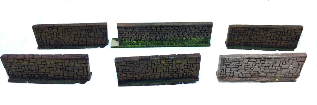 Scenery Wargame - 20-28mm - ES76 - Wall section - UNPAINTED USED