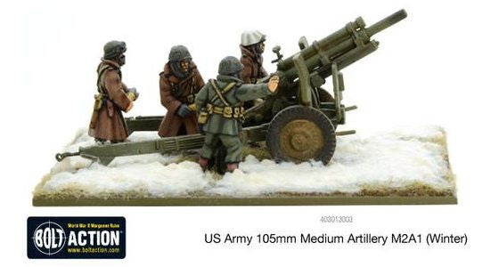 Warlord games - Bolt Action - US Army 105mm medium artillery M2A1 (Winter) - 28mm