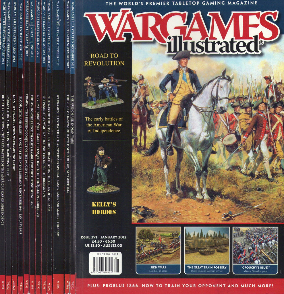 Wargames illustrated COMPLETE YEAR 2012