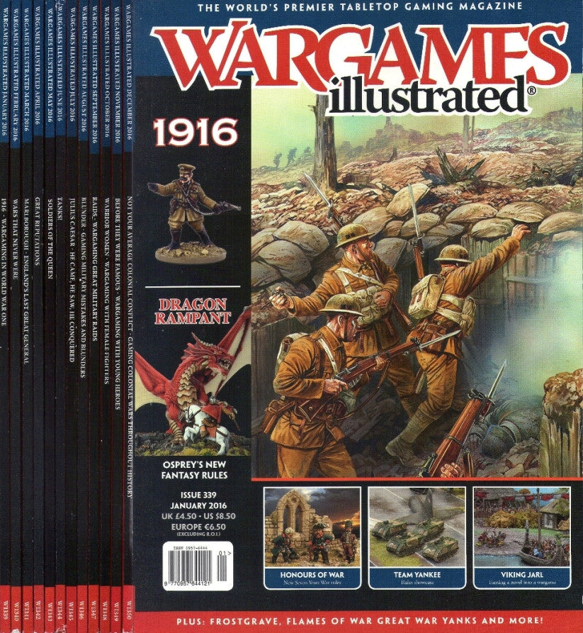 Wargames illustrated COMPLETE YEAR 2016