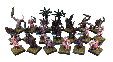 Warhammer Fantasy - Daemons Plague Bearers of Nurgle (painted) - 28mm