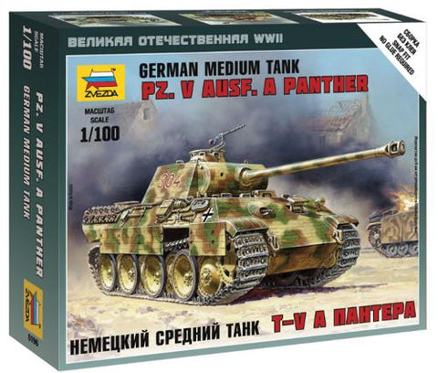 Zvezda -  German medium tank Pz.Kpfw.V Ausf.A Panther - 1:100