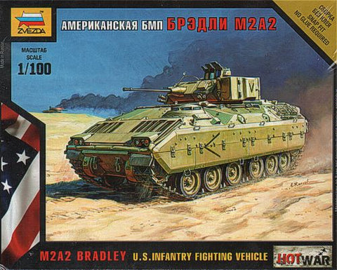 Zvezda -  US infantry fighting vehicle M2A2 Bradley - 1:100