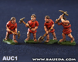 Baueda - Legionaries in fatigue dress digging (8 foot) - 15mm