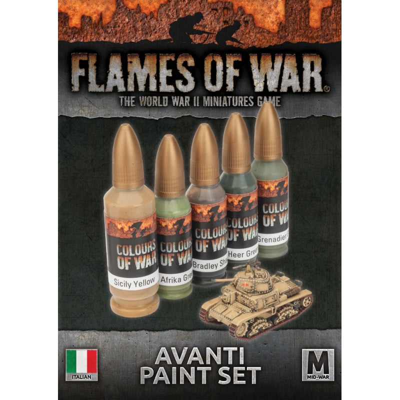 Flames of war - Avanti paint set (italians)