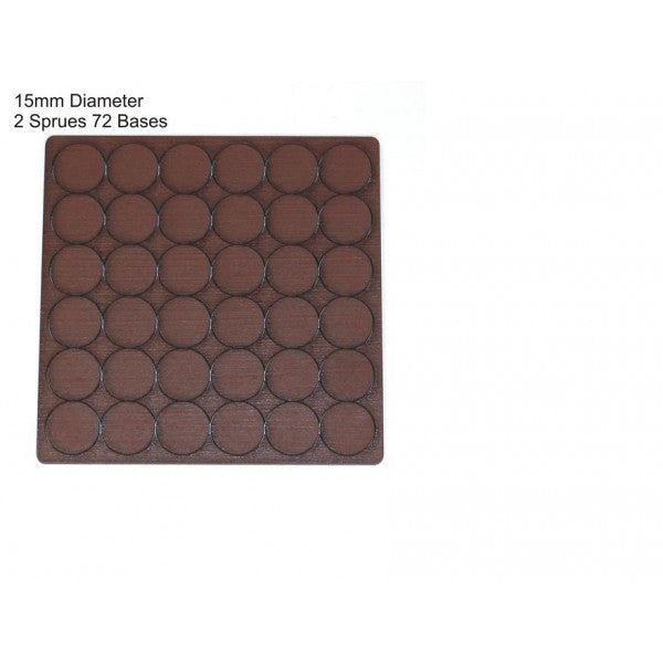 4GROUND - Brown primed bases 15 mm (72) - PBB-15D