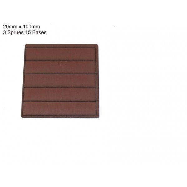 4GROUND - Brown primed bases 20 x 100 mm (15) - PBB-20100