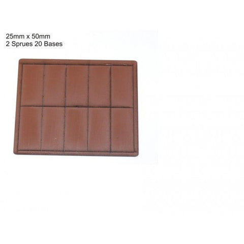 4GROUND - Brown primed bases 25 x 50 mm (20) - PBB-2550