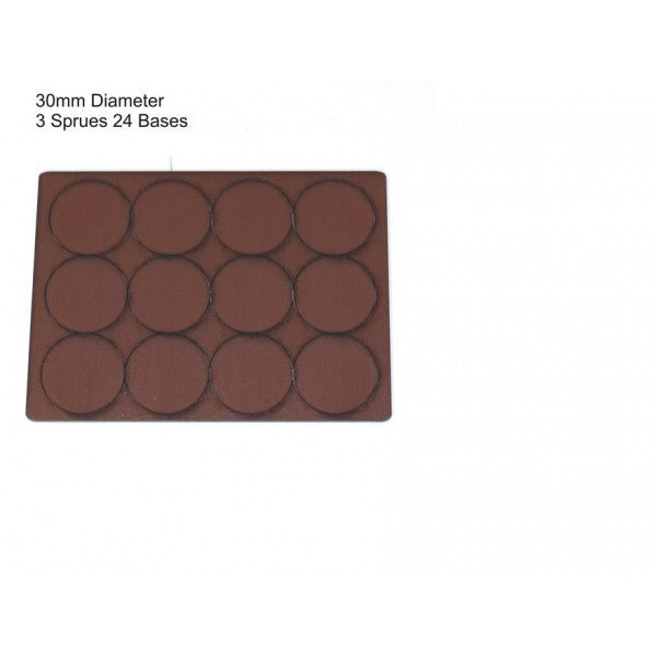 4GROUND - Brown primed bases 30 mm (24) - PBB-30D