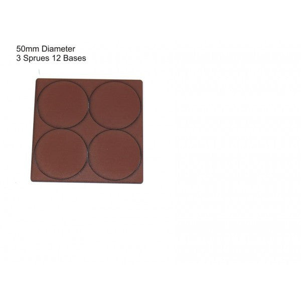 4GROUND - Brown primed bases 50 mm (12) - PBB-50D
