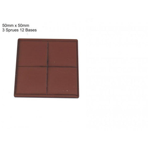 4GROUND - Brown primed bases 50 x 50 mm (12) - PBB-5050