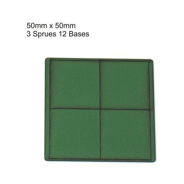 4GROUND - Green primed bases 50x50 mm (12) - PBG-5050