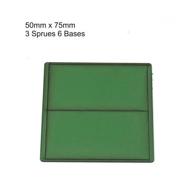 4GROUND - Green primed bases 50x75 mm (6) - PBG-5075
