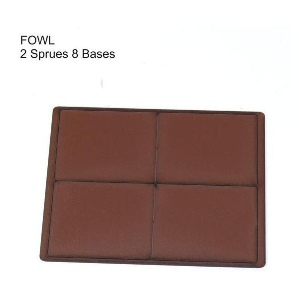 4GROUND - Brown primed bases FOW Large (8) - PBB-FOWL