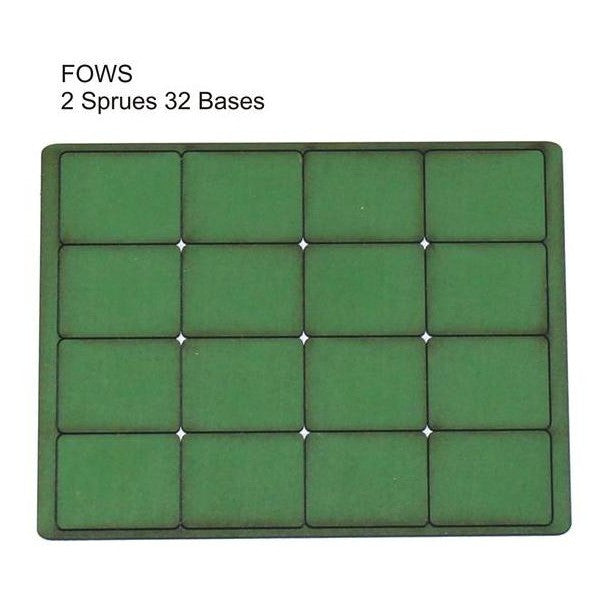 4GROUND - Green primed bases FOW Small (32) - PBG-FOWS