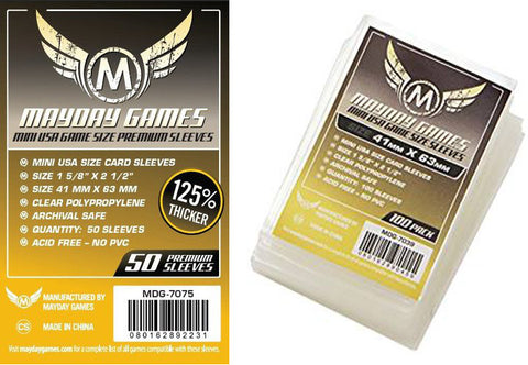 Mayday Games - Mini usa game size sleeves (41mmx63mm)