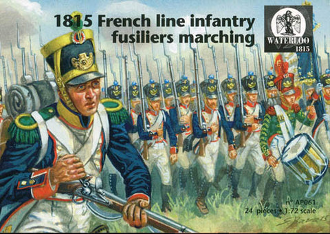 Waterloo 1815 - 1815 French line infantry fusiliers marching - 1:72