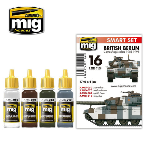 Ammo of Mig - British Berlin camouflage colors 1988-1991 (4 jars x 17ml)
