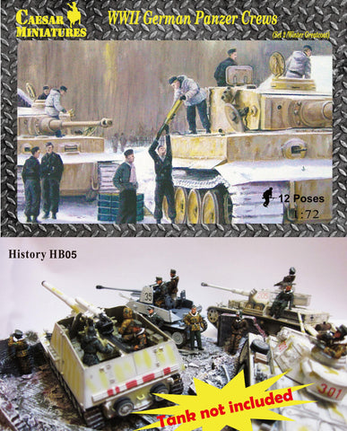 Caesar Miniatures - WWII German Panzer crews - 1:72 - HB05
