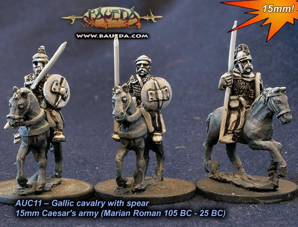 Baueda - Gallic cavalry with spear (4 mtd.) - 15mm