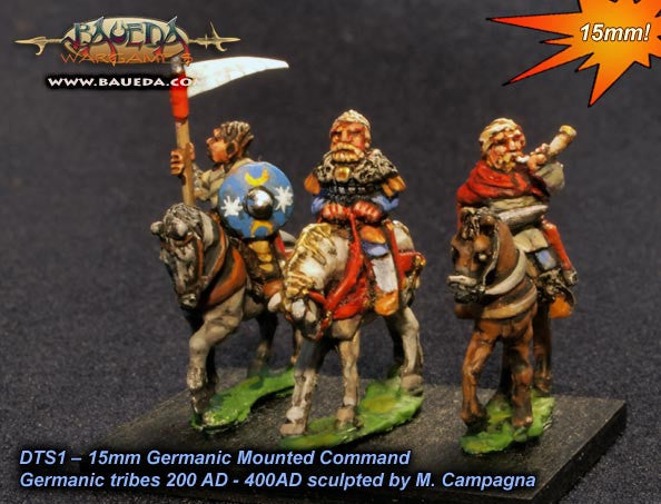 Baueda - Early Frankish or Alamanni mounted command (4 mtd.) - 15mm