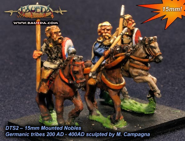 Baueda - Early Frankish or Alamanni mounted nobles (4 mtd.) - 15mm