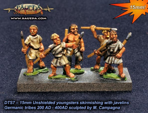 Baueda - Adolescent skirmishers (8 foot) - 15mm