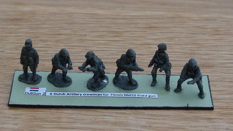 EWM - Dutch 6 Artillery crewman for field guns WWII - 20mm - DutGun2