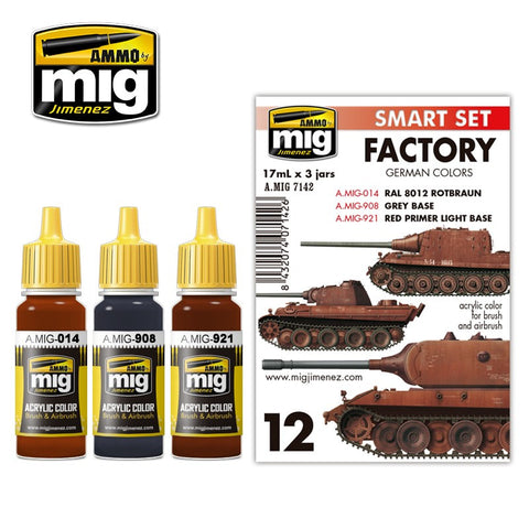 Ammo of Mig - Factory german colors (3jars X 17ml)