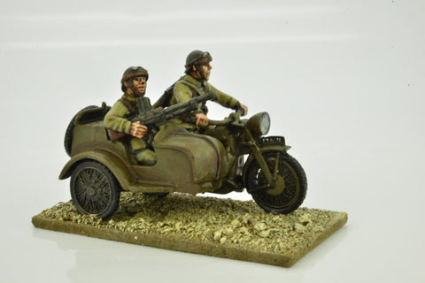 World War II > French  WWF048 - French Motorcycle and Sidecar with Riders (OOP)
