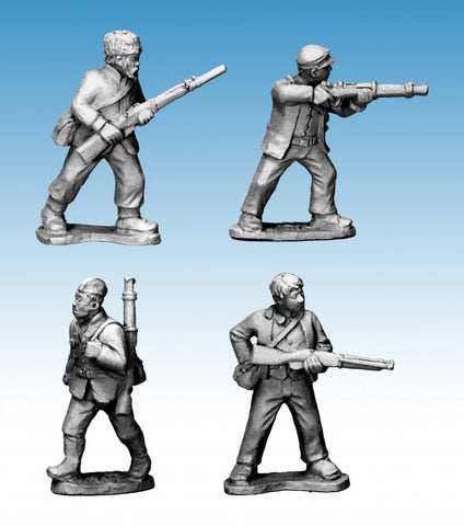 World War II > Partisans  WWP051 - Partisans with Rifles II - 28mm