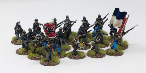 American Civil War - ACWU03 - Confederate Regiment (24 figures plus flags)