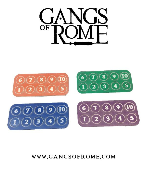Footsore Miniatures & Games WBGORC2 - Gang Fighter ID Markers (40)