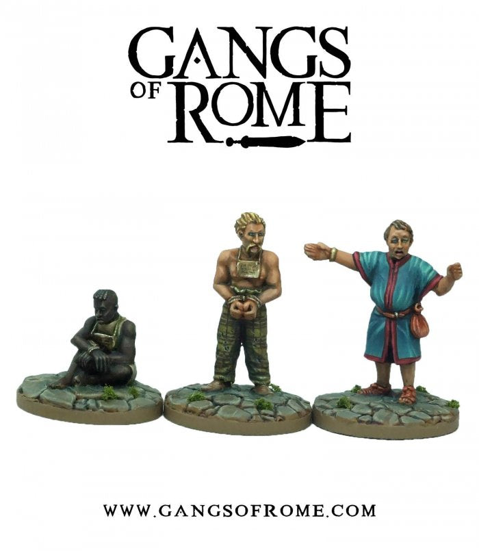 Footsore Miniatures & Games WBGORM04 - Slave Master and Slaves