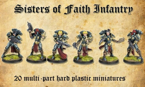 Shieldwolf SoF-1 - Sisters of Faith (female space paladins) - 28mm