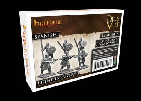 Fireforge - DVSP02 - Spanish - LIGHT INFANTRY - SPEARMEN & CROSSBOWMEN - 28mm
