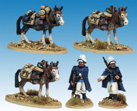 Artizan - French Foreign Legion - Legion Mounted Company Mule holders - 28mm - MOD037