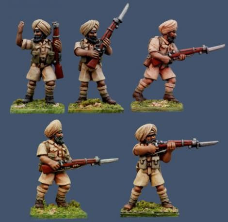 Pulp Figures - Sikh Rifles - 28mm - PBT 05