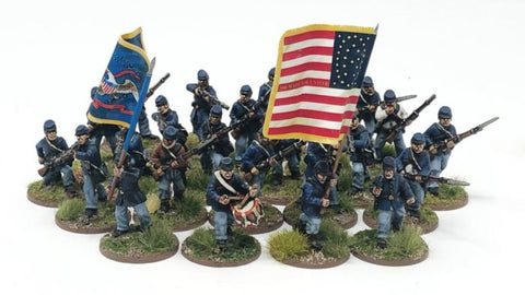 American Civil War ACWU01 - Union Regiment (24 figures plus flags)