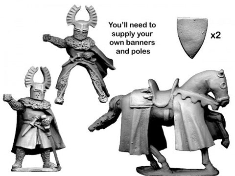 Crusader MCF047 - Teutonic Knight Banner Bearer - 28mm