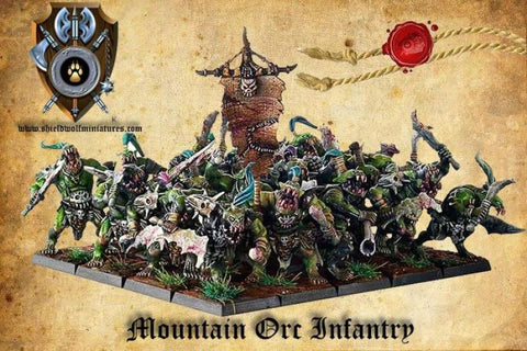 Shieldwolf O-705 - Mountain Orc Infantry - 28mm