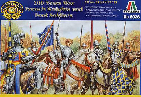 Italeri - 100 years war French knights and foot soldiers - 1:72