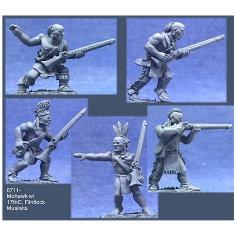 Crucible Crush - Mohawk Warriors w/17th C. Flintlock Muskets - CC-67011