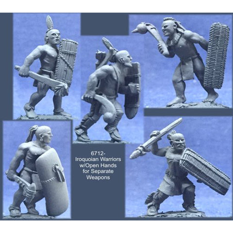 Crucible Crush - Iroquoian Warriors w/Open Hands for Separate Weapons - CC-67012